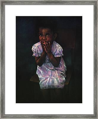 Does Jesus Love Me Framed Print by Curtis James