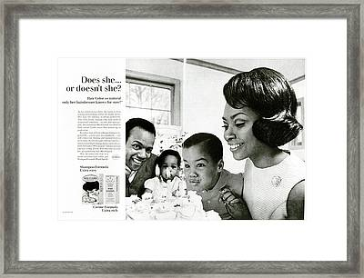 Does She Or Doesn't She Framed Print