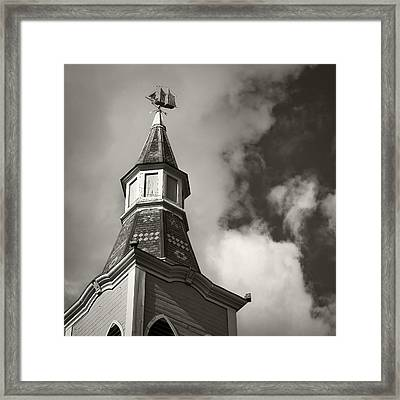 Doesnt Matter How Steep Framed Print by Mike McMurray