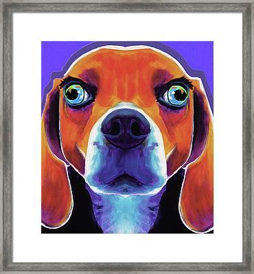 Basset Hound #01 By Nixo Framed Print