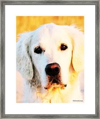 Dog Art - Golden Moments Framed Print