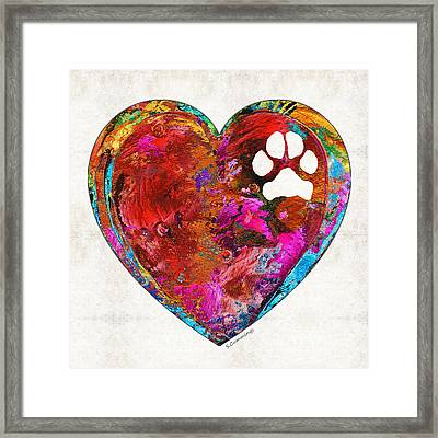 Dog Art - Puppy Love 2 - Sharon Cummings Framed Print by Sharon Cummings
