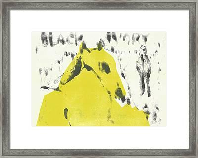 Dog At The Beach - Black Ivory 2 Framed Print