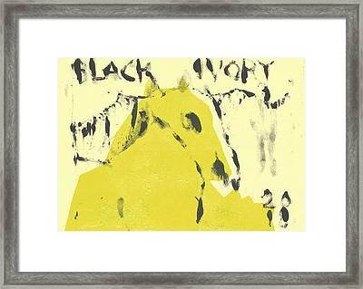 Dog At The Beach - Black Ivory 4 Framed Print