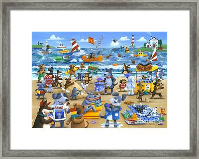 Dog Beach Framed Print