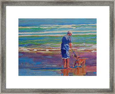 Dog Beach Play Framed Print