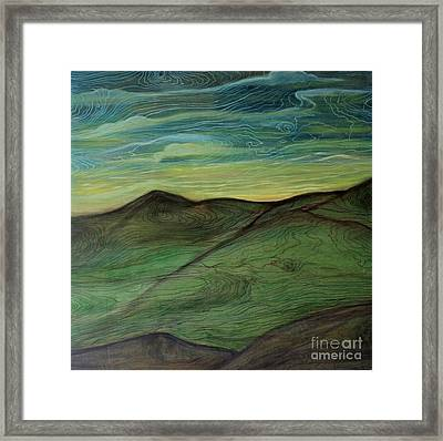 Dog Bite Mountain Framed Print by Barbara Donovan