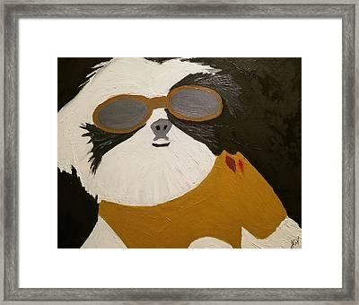 Dog Boss Framed Print by J Cv