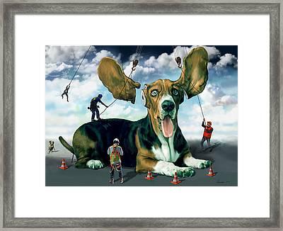 Dog Construction Framed Print