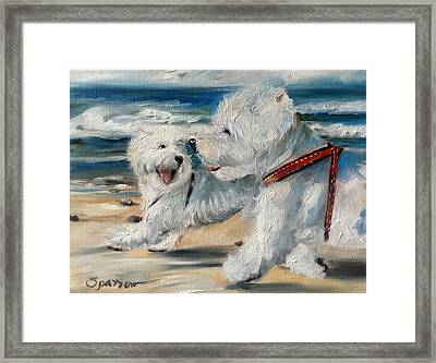 Dog Days Of Summer Framed Print by Mary Sparrow