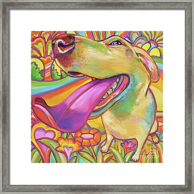 Dog Daze Of Summer Framed Print