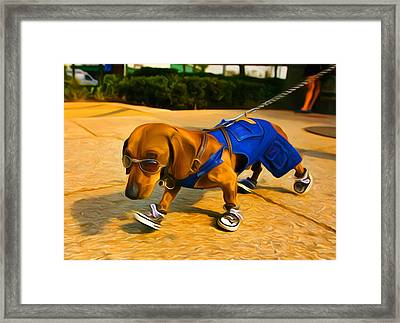 Dog Dude Framed Print