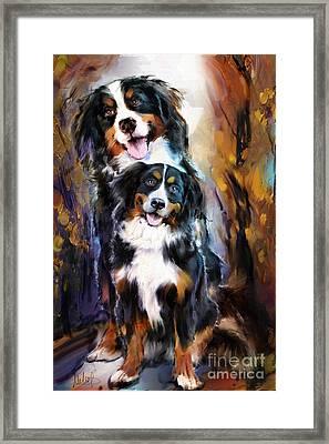 Dog Family Framed Print