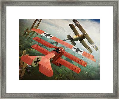 Dog Fight Framed Print by Gino Marcomini