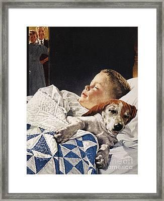 Dog Food Ad, 1956 Framed Print by Granger