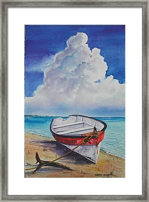 Dog Island Dorie Framed Print by Chuck Creasy