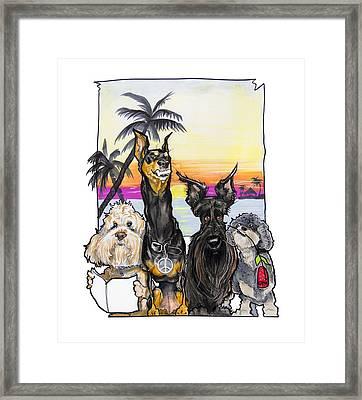 Dog Island Getaway Framed Print