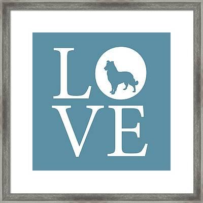 Dog Love Framed Print by Nancy Ingersoll