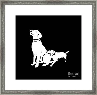 Dog Love Tee Framed Print by Edward Fielding