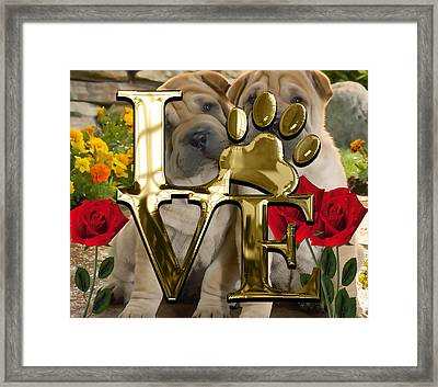 Dog Lover Collection Shar Pei Dogs Framed Print