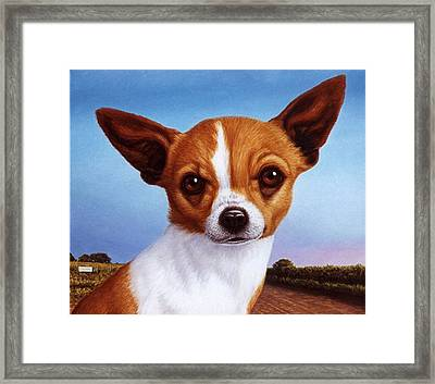 Dog-nature 3 Framed Print by James W Johnson