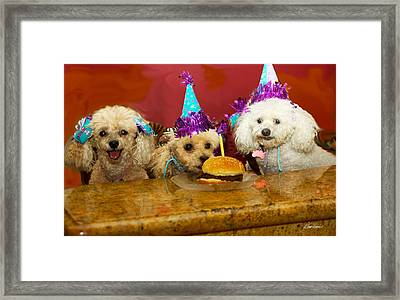 Dog Party Framed Print