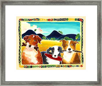Dog Play Framed Print by Harriet Peck Taylor