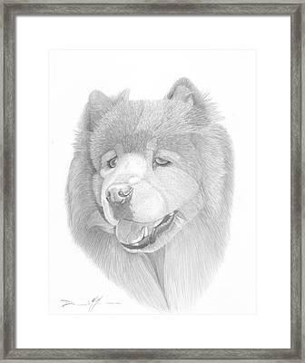Dog Portrait Logi Framed Print