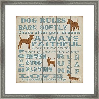 Dog Rules-jp3034 Framed Print