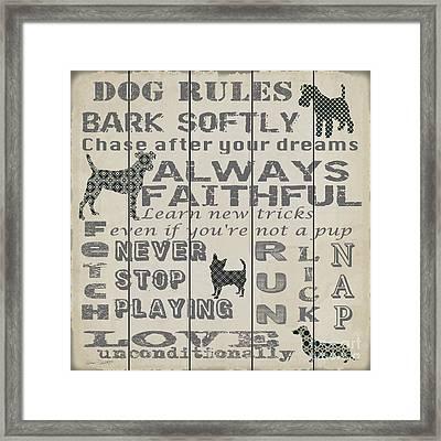 Dog Rules-jp3037 Framed Print