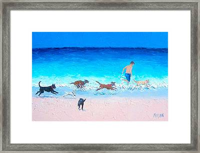 Dog Run Framed Print by Jan Matson