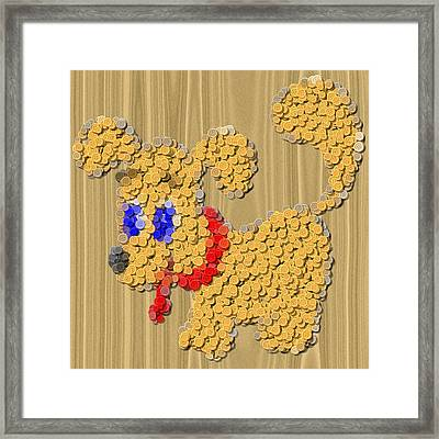 Dog Sewing Buttons Image Framed Print