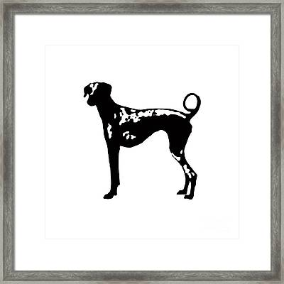 Dog Tee Framed Print by Edward Fielding