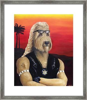 Dog The Bouncy Gunther Framed Print