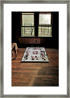 Framed Print featuring the photograph Dog Town by Robert Harshman