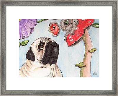 Dog Treat Framed Print