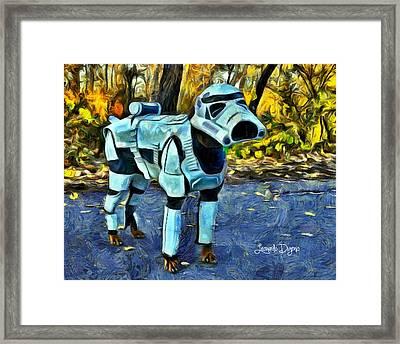 Dog Trooper Framed Print by Leonardo Digenio