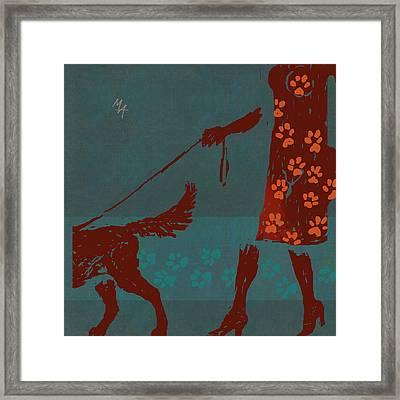 Dog Walker Framed Print