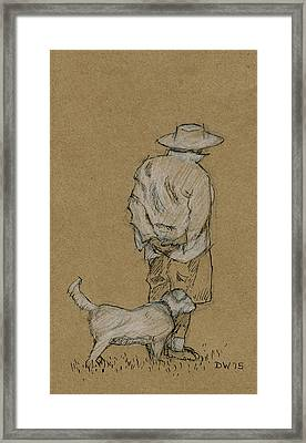 Dog Walker Plein Air Framed Print