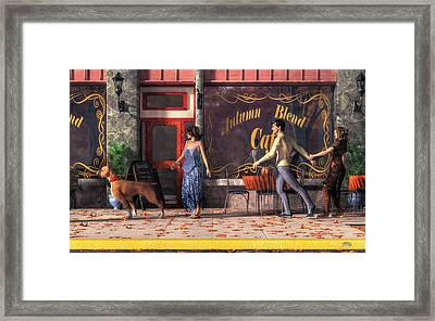 Dog Walkers Framed Print by Daniel Eskridge