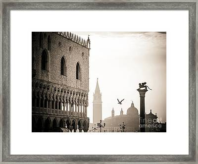 Doge's Palace S At Piazza San Marco In Venice, Italy Framed Print by Bernard Jaubert