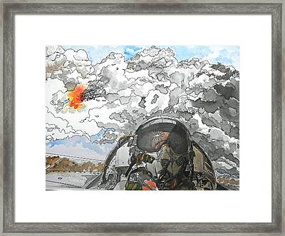 Dogfight Framed Print by D K Betts