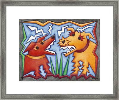 Doggie Duet Framed Print by Mary Anne Nagy
