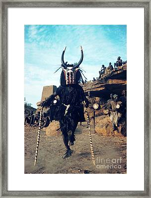 Dogon Dancer Wearing Mask, Sudanese Republic Framed Print by The Harrington Collection
