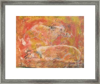 Dogs - Mother And Child Framed Print by Don Phillips