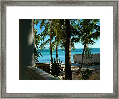 Dog's Beach Key West Fl Framed Print by Susanne Van Hulst