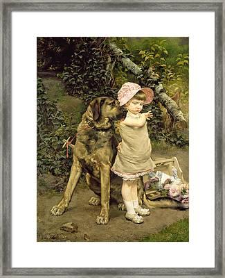 Dog's Company Framed Print by Edgard Farasyn
