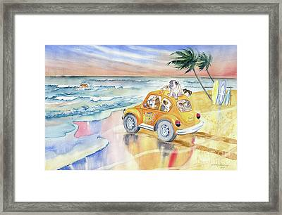 Dogs On Vacation Framed Print