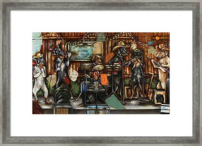 Dogs Playing Music Framed Print