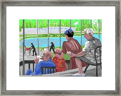 Dogtrack Money And Fun Framed Print